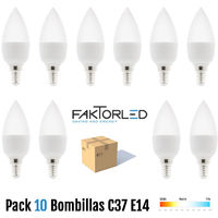 Pack 10 bombillas c37 e14