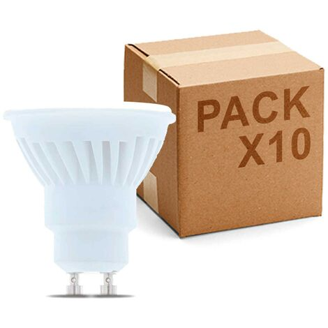 Pack 10 Bombillas Dicroica LED GU10 120º 6W