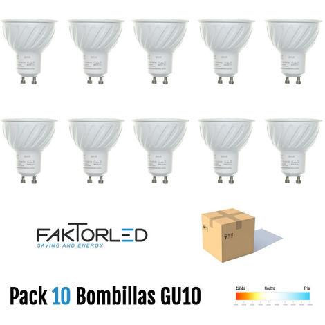 "main image of ""Pack 10 bombillas gu10 60º"""