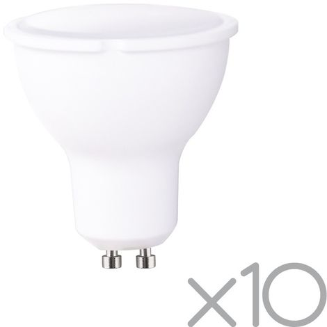 Pack 10 bombillas LED GU10 8W (luz fría)