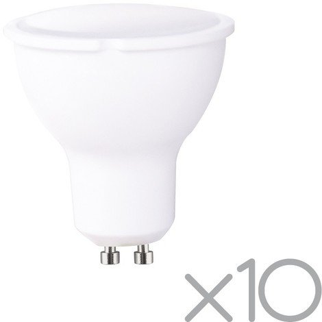 Pack 10 bombillas LED GU10 8W (luz neutra)