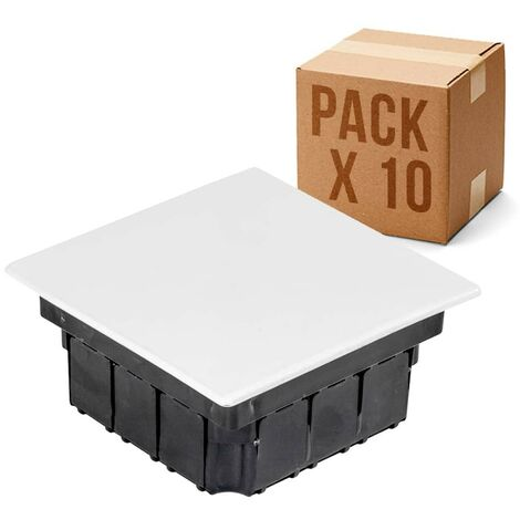 Pack 10 Cajas de empotrar 100x100mm + Tapa