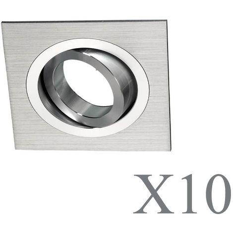Pack 10 Classic cuadrado aluminio