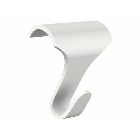 Pack 10 crochets couleur blanc galerie pour cimaise en bois - Charge 12.5 kg - Blanc - 0.18 - Blanc