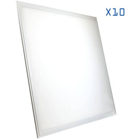 Pack 10 Dalles LED 60x60 42W ultra plat
