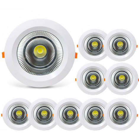 Pack 10 Downlight LED Redondo SUNT 40W con 3800 Lm. 3000K Blanco Cálido