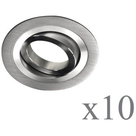 Pack 10 Empotrable Classic redondo aluminio