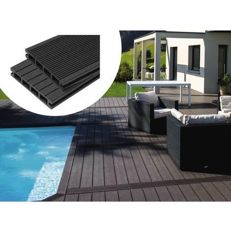 Pack 10 m² - Lames de terrasse composite alvéolaires - Gris