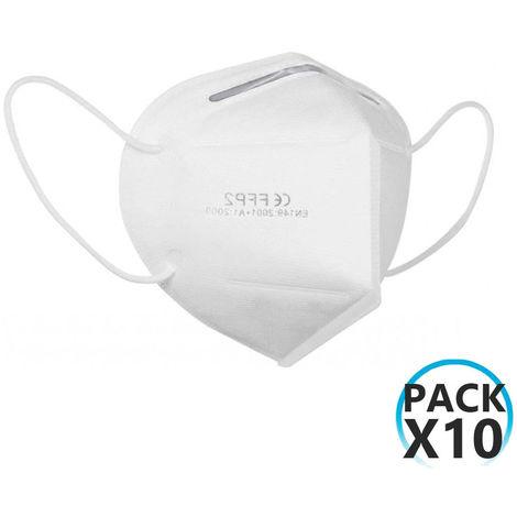 Pack 10 Mascarillas EPI FFP2 No Reutilizables KN95 Blanco O91