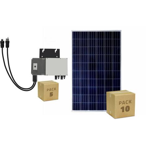 Pack 10 Panneaux Solaire Photovoltaïque Polycristallin 320W BYD Class A + 5 Micro-Onduleur 600W