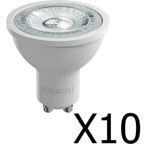 Pack 10 spots Duracell LED GU10 4,4 W / 50W