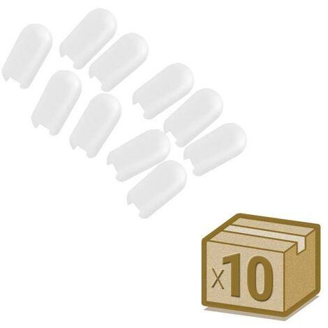 Pack 10 unidades Tapa NEON silicona 6x12mm color blanco, interior