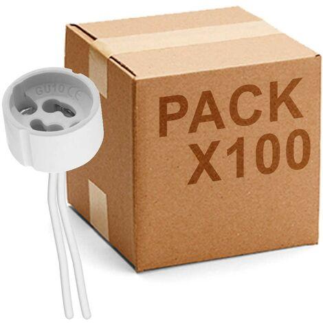 Pack 100 uds Portalámparas GU-10