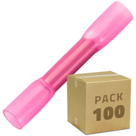 Pack 100 Unidades Terminal de Empalme Termoretráctil BHT 1,25 Rojo - Rojo