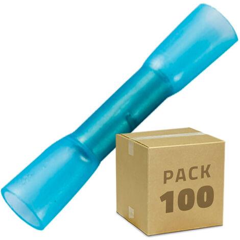 Pack 100 Unidades Terminal de Empalme Termoretráctil BHT 2 Azul - Azul