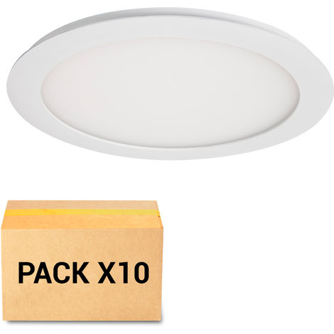 PACK 10X FOCOS EMPOTRABLES LED 18W 3000K CIRCULAR