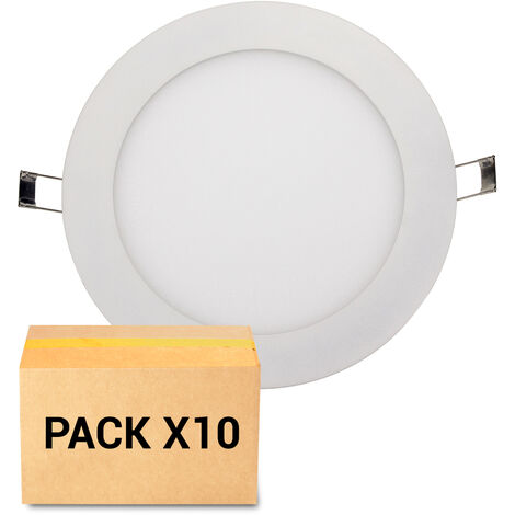 PACK 10X FOCOS EMPOTRABLES LED 6W 4000K CIRCULAR