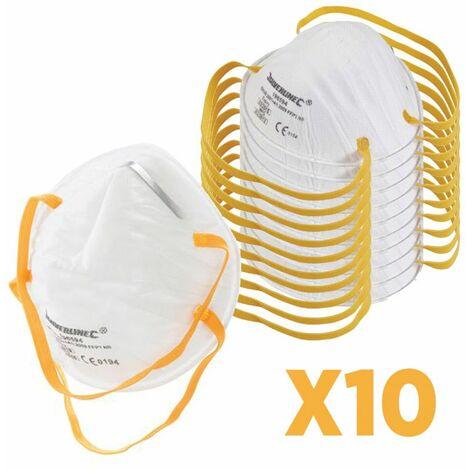 Pack 10X Masque respiratoire FFP1 Conforme EN 149 Usage unique