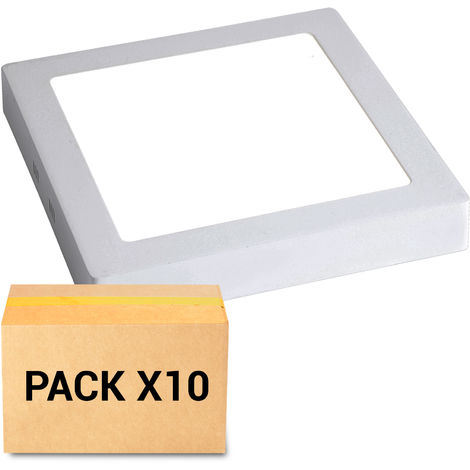 PACK 10X PLAFONES LED 30W 4000K CUADRADO BLANCO