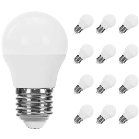 Pack 12 Bombillas LED Esférica E27 6W Equi.40W 470lm Raydan Home