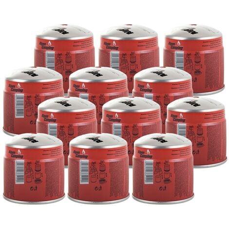 Pack 12 cartouches gaz 190g ALPENTECH Butane Propane perçable sécurité stop-gaz