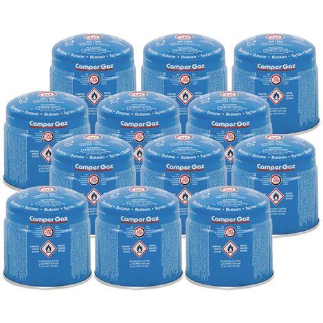 Pack 12 cartouches gaz 190g CAMPER GAZ butane Perçable sécurité Stop-gaz