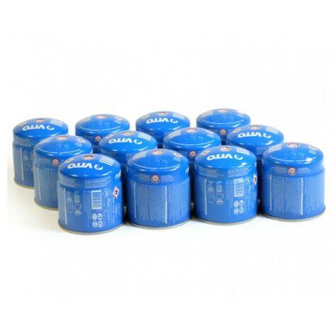 Pack 12 cartouches gaz 190g VITO butane mix perçable sécurité stop-gaz TUV