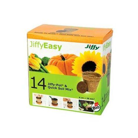 Pack 14 Macetas De Turba Jiffy + Pastillas