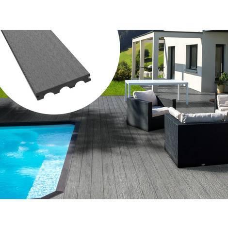 Pack 15 m² - Lames de terrasse composite pleines - Gris