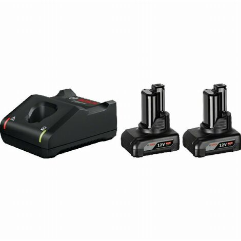 Pack 2 batteries BOSCH 2 batteries GBA 12V 6Ah + Chargeur GAL12V-40 - 1600A01B20