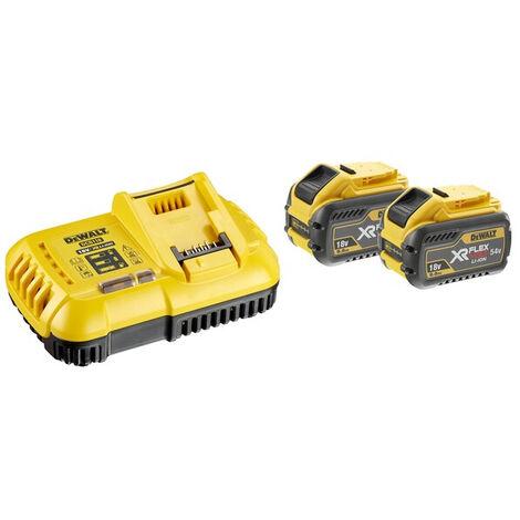 Pack 2 batteries XR Flexvolt 18V/54V 9Ah/3Ah Li-Ion + Chargeur - DCB118X2-QW