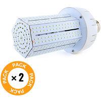 Pack 2 Bombilla LED Alumbrado Público Brigelux 360º E40 80W 8800Lm 30.000H | Blanco Frío (MYM-80-03-CW-PK2-AP)