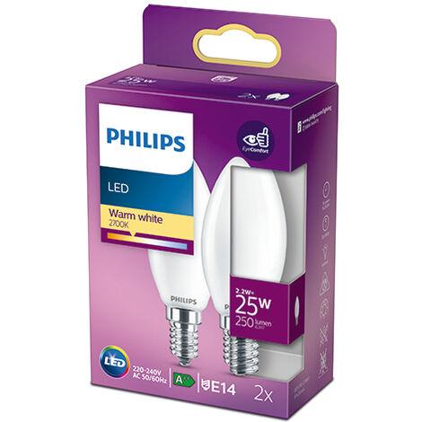 Pack 2 Bombilla LED Philips E14 B35 2.2W 250Lm 2700K [PH-929001345270] (PH-929001345270)