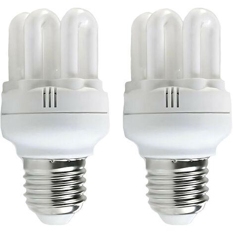 Pack 2 Bombillas CFL Bajo Consumo Mini 6U E27 11W