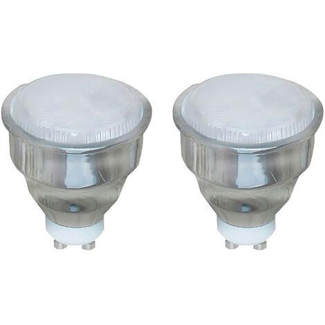 Pack 2 Bombillas CFL Bajo Consumo Spotlight GU10 9W 400lm 2700K 7hDayron