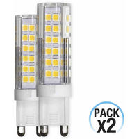 Pack 2 Bombillas LED Bipin G9 6W Equi.50W 550lm 25000H
