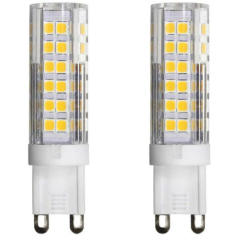 Pack 2 Bombillas LED Bipin G9 6W Equi.50W 550lm Regulables 6000K 25000H 7hSevenOn