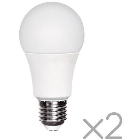 Pack 2 Bombillas LED E27 con sensor crepuscular 11W (3000ºK)