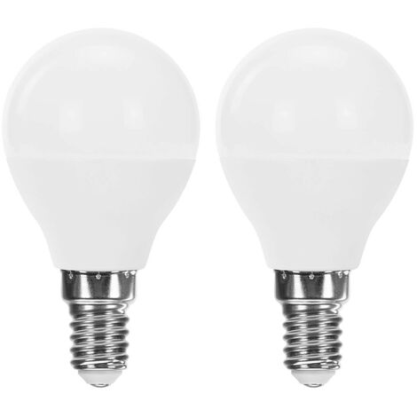Pack 2 Bombillas LED Esférica E14 6W Equi.40W 470lm Raydan Home