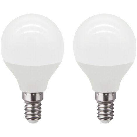 Pack 2 Bombillas LED Esférica E14 6W Equi.40W 470lm Raydan Home