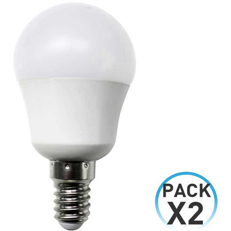 Pack 2 Bombillas LED Esférica E14 7,4W Equi.60W 806lm 25000H Eilen