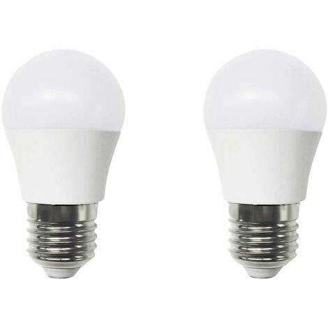 Pack 2 Bombillas LED Esférica E27 6W Equi.40W 470lm 25000H 7hSevenOn LED
