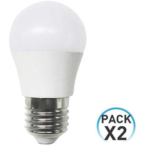 Pack 2 Bombillas LED Esférica E27 6W Equi.40W 470lm 25000H