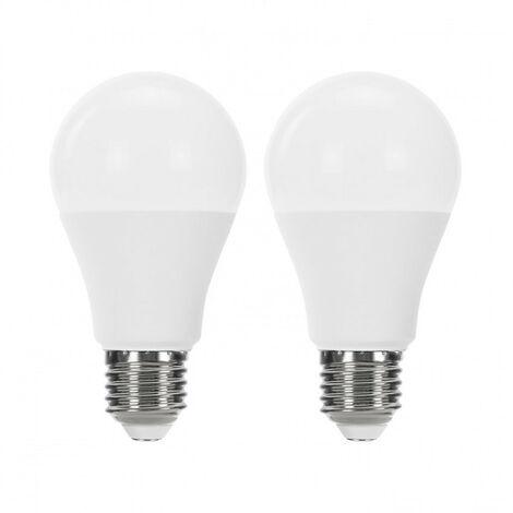 Pack 2 Bombillas LED Estándar E27 9W Equi.60W 806lm Raydan Home