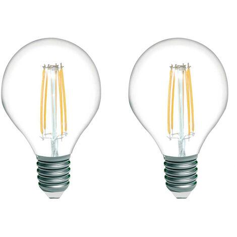 Pack 2 Bombillas LED Filamento Esférica E14 4W Equi.40W 470lm 2700K 15000H 1Primer Low Cost