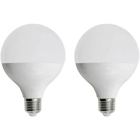 Pack 2 Bombillas LED Globo E27 16W Equi.100W 1521lm 15000H