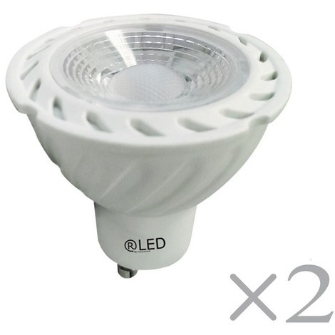 Pack 2 bombillas LED GU10 (7W)