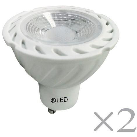 Pack 2 bombillas LED luz cálida (7W)
