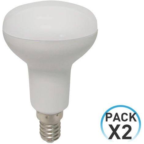 Pack 2 Bombillas LED Reflectora E14 5W Equi.40W 470lm 4000K 25000H 7hSevenOn LED