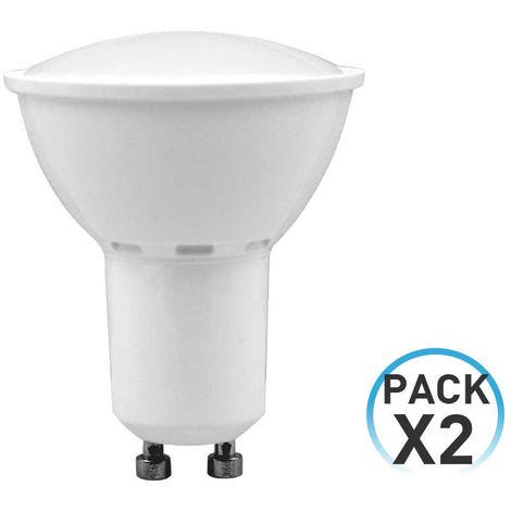 Pack 2 Bombillas LED Spotlight GU10 6W Equi.50W 540lm 25000H 7hSevenOn LED